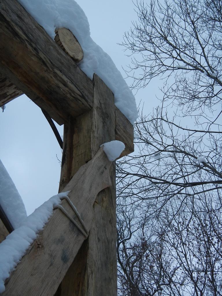 Im Winter auf dem Campus