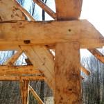 Der entsprechende Knotenpunkt an unserer Weberhütte.