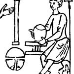 Abbildung 3: Handtöpferscheibe. Rodabibel, Spanien, 2. Hälfte 11. Jahrhundert.