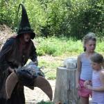 Die Hexe Raja begeisterte die Kinder.
