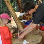 Auf dem Scheunen-Bauplatz war viel für Kinder geboten.