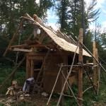 Mitarbeiter des Werkstättle e.V. hatten das Dach begonnen.