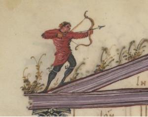 Im Bogenschießen können sich Besucher selbst versuchen.