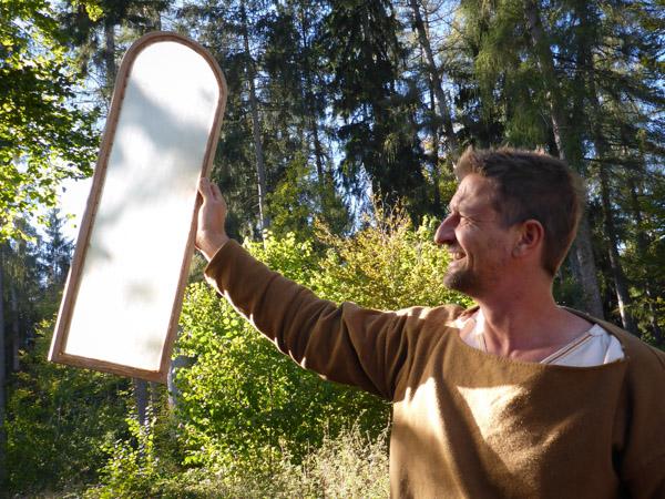 Fenster aus Pergament